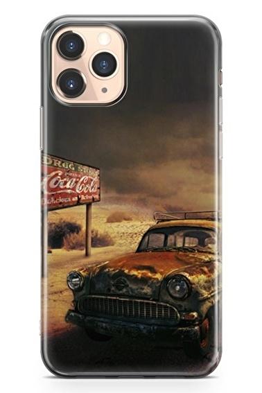 Lopard İphone 11 Pro Kılıf Silikon Arka Kapak Koruyucu Paslı Yaşamlar Desenli Full HD Baskılı Renkli
